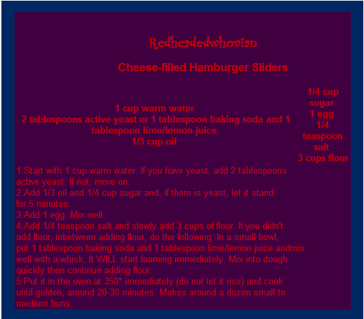 cheese-filled hamburger buns recipe